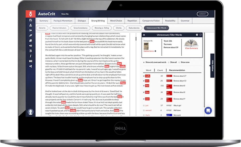 AutoCrit book editing app