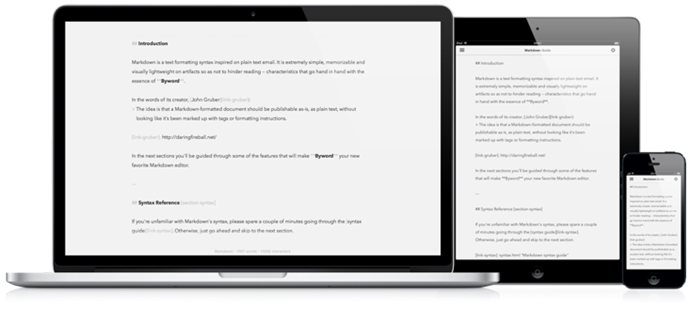 Byword book writing software
